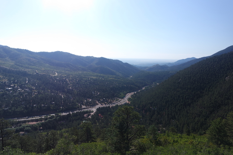 Manitou Springs from above