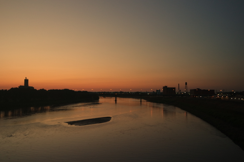 Sunrise over Kansas River